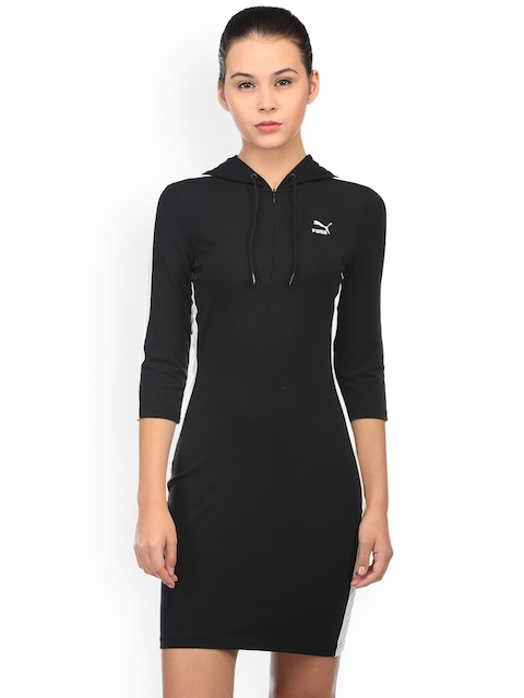 Puma Women Black Solid Sweater Dress