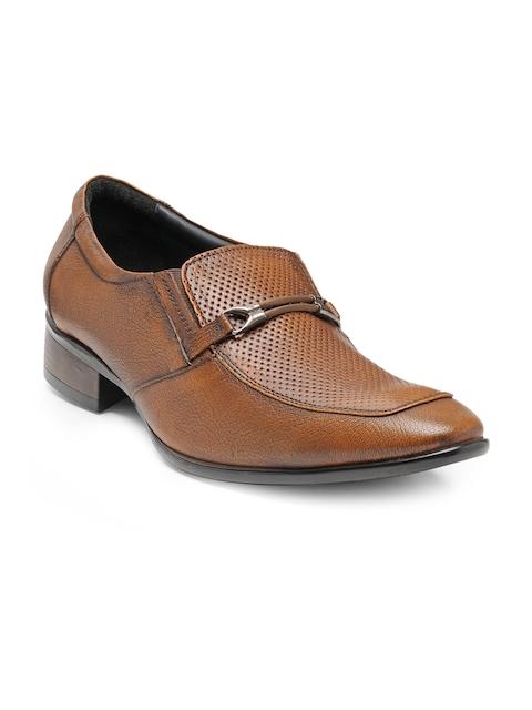 Teakwood Leathers Men Tan Formal Slip-On Shoes