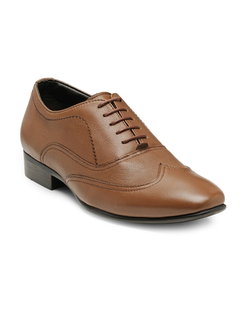 Red Tape Men Tan Brown Leather Formal Oxfords