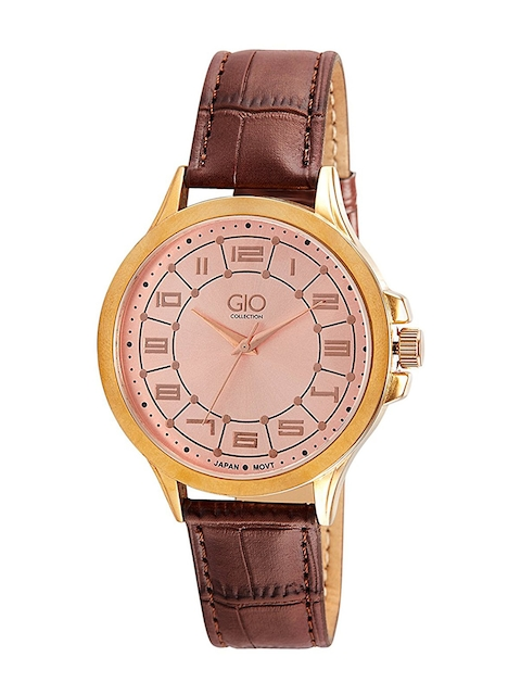 GIO COLLECTION Men Rose Gold-Toned Analogue Watch