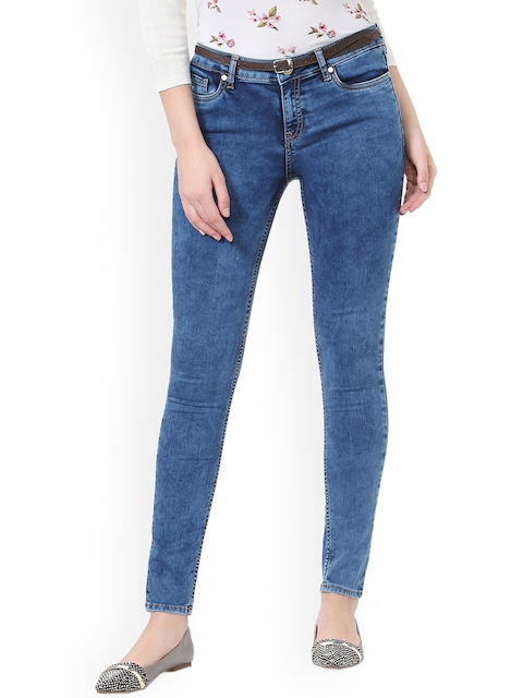 Allen Solly Woman Blue Slim Fit Mid-Rise Clean Look Jeans