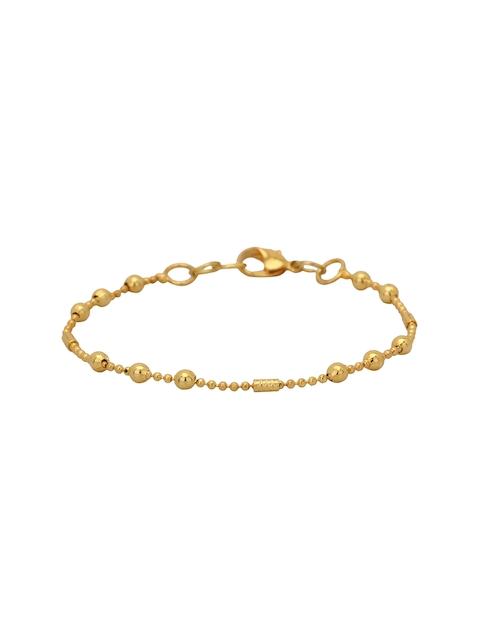 TJORI Gold-Toned Brass Gold-Plated Contemporary Bracelet