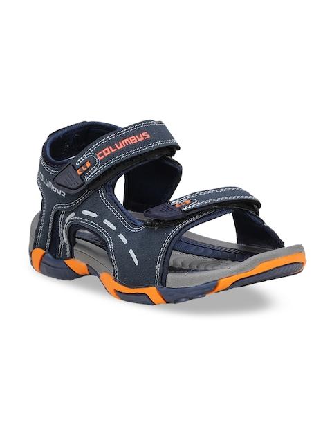 Columbus Men Navy Blue Sports Sandals