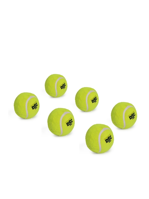 DSC Unisex Yellow Nitro Heavy Pack of 6 Cricket Tennis Balls