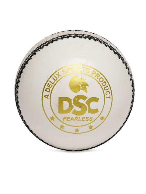 DSC White Leather Red Dot Blister Cricket Ball