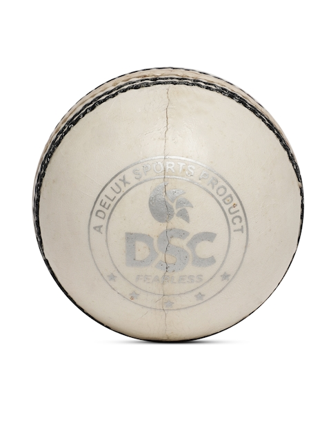 DSC White Leather Grade Cricket Ball