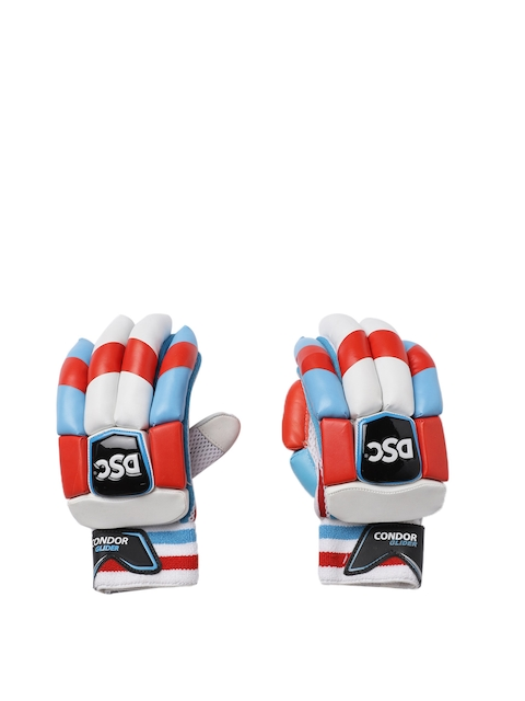 DSC Kids White, Blue & Red Condor Glider Batting Gloves