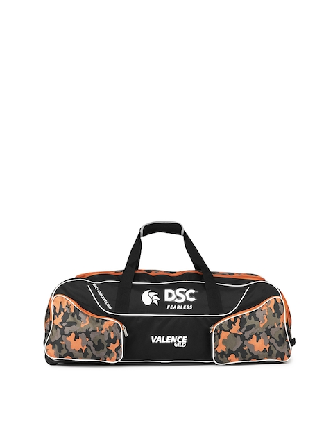 DSC Unisex  Valence Gild Black & Orange Large Cricket Wheel Bag