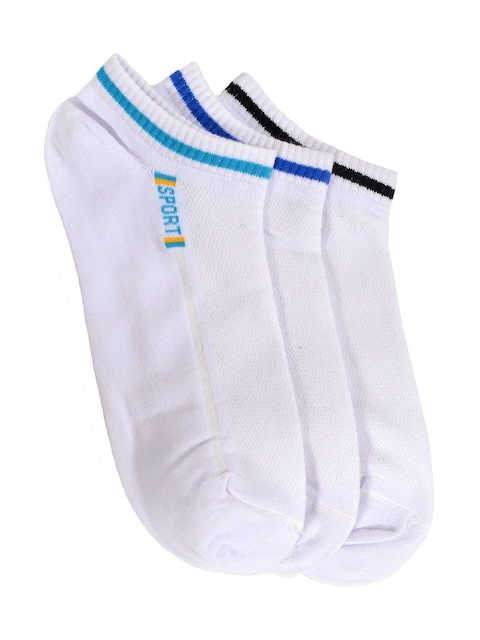 MARC Pack of 3 Ankle-Length Socks