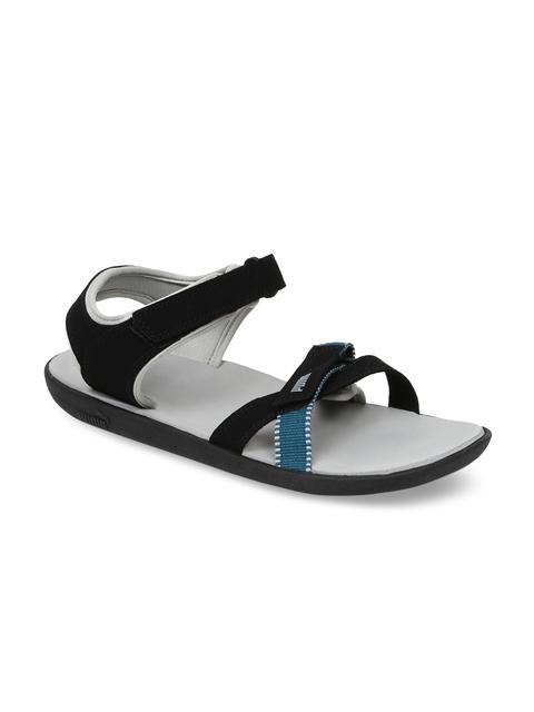 Puma Unisex Black Sports Sandals