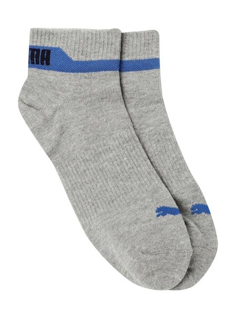 Puma Men Grey Ankle-Length Socks