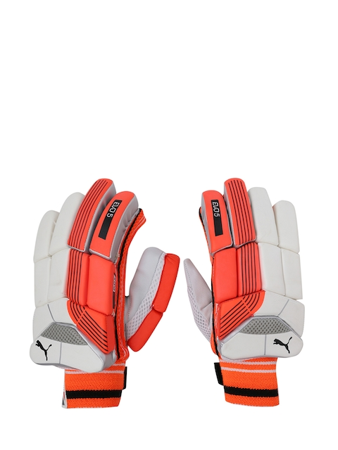 Puma Men Red & White EVO 5 Batting Gloves