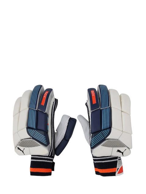 Puma Men Blue & White EVO 4 Batting Gloves