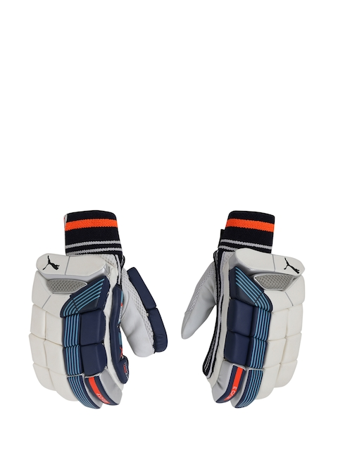Puma Men Blue & White EVO 3 Batting Gloves
