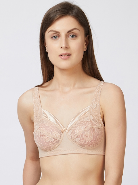 Blush by PrettySecrets Beige Solid Non-Wired Non Padded Everyday Bra