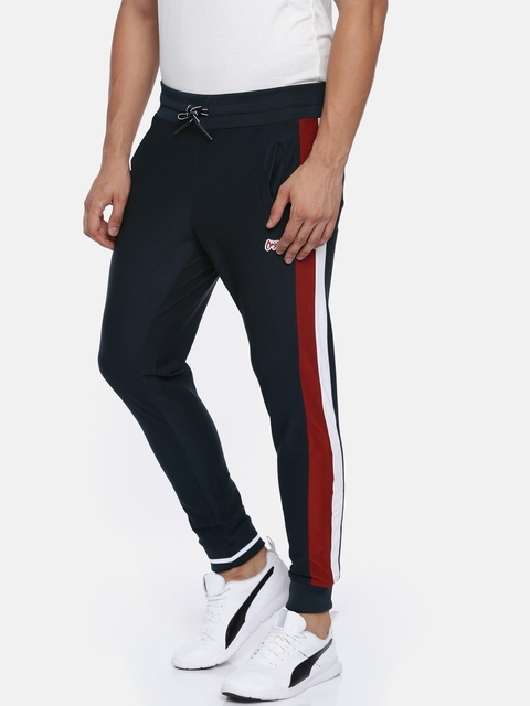 Jack & Jones Men JOR Navy Blue Slim Fit Solid Joggers