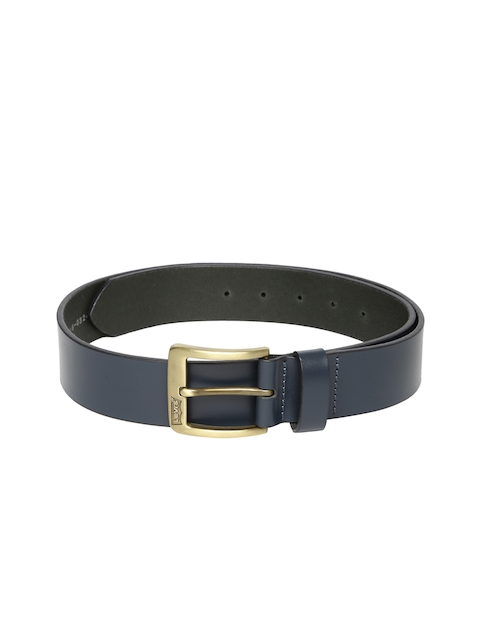 Levis Men Blue Solid Leather Belt