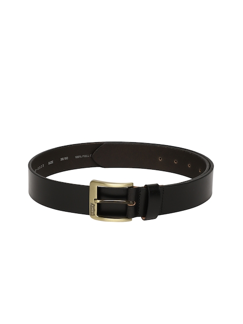 Levis Men Black Solid Cloverdale Leather Belt