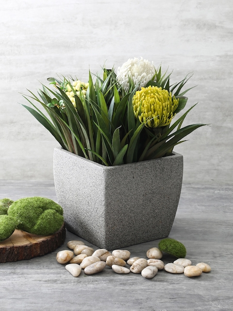 Pure Home and Living Grey Square Planter