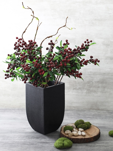 Pure Home and Living Black Square Contemporary Planter