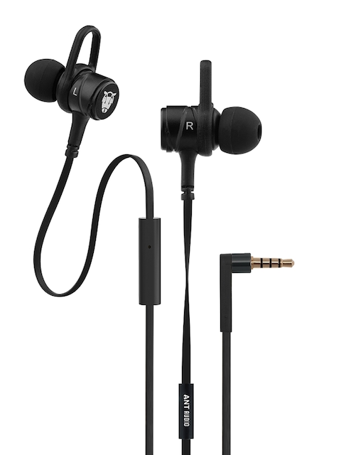 Ant Audio Unisex Black W56 In Ear Wired Headphones with Built-In Mic