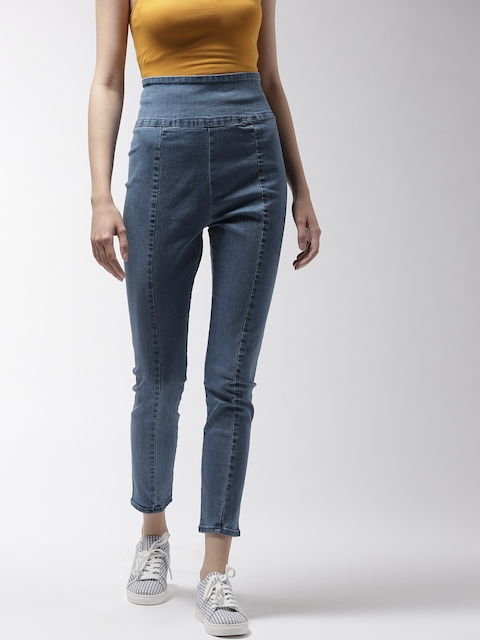 FOREVER 21 Women Blue Denim Jeggings