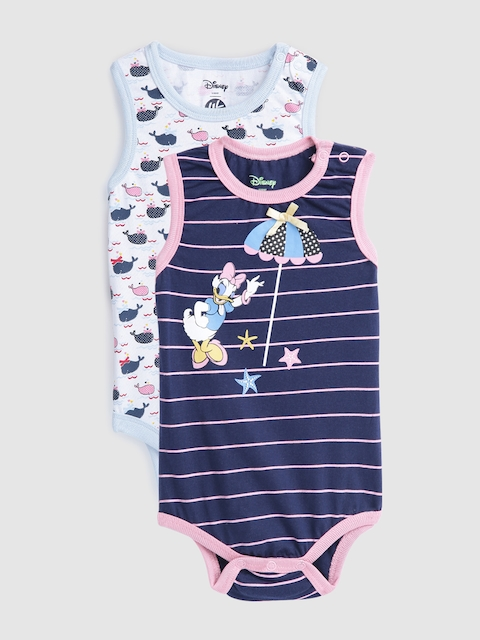 YK Disney Infant Girls Pack of 2 Bodysuits