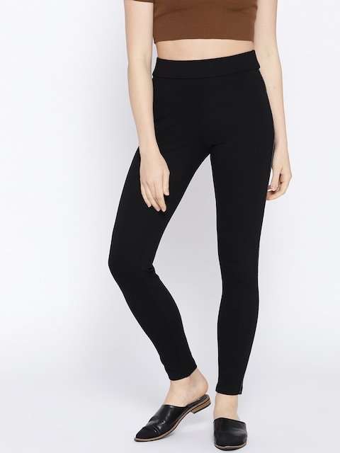 Vero Moda Women Black Solid Jeggings
