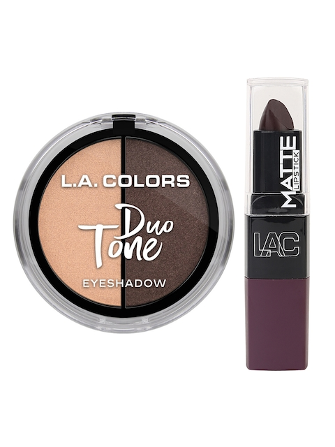 L.A Colors Set Of Matte Lipstick & Superstar Duo Tone Eyeshadow