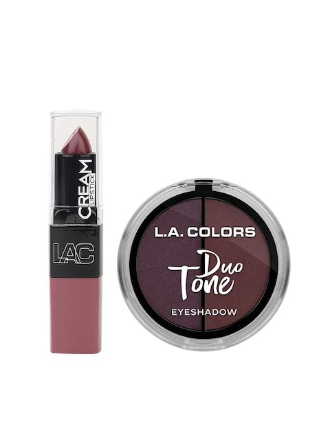 L.A colors Merlot Duo Tone Eyeshadow & Lipstick