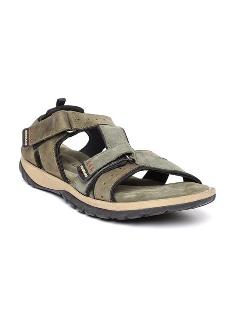 Woodland ProPlanet Men Olive Green Nubuck Leather Comfort Sandals