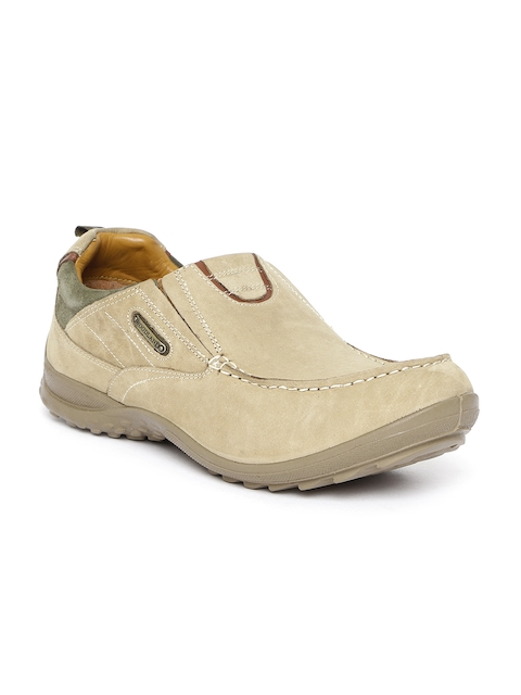 Woodland ProPlanet Men Beige Nubuck Leather Slip-Ons
