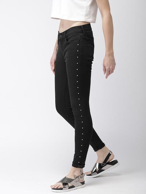 Levis Women Black Super Skinny Fit Mid-Rise Clean Look Jeans