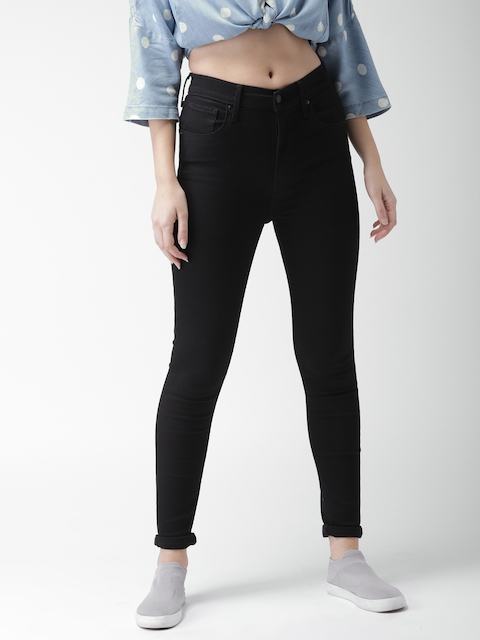 Levis Women Black Super Skinny Fit High-Rise Clean Look Stretchable Jeans