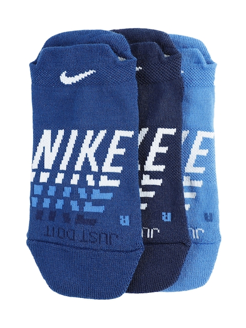 Nike Women Blue Pack of 3 Everyday Max Cushion Low Training Socks