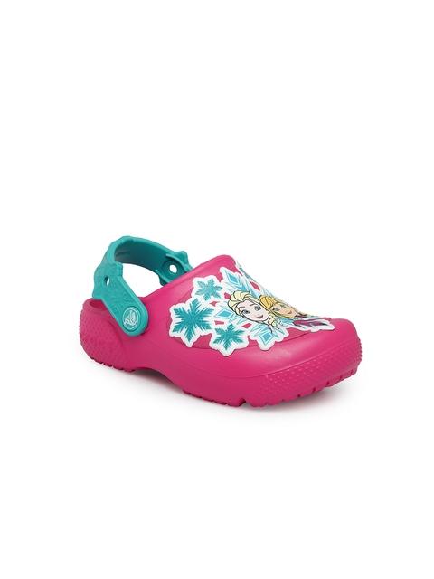 Crocs Girls Pink & Turquoise Blue Clogs