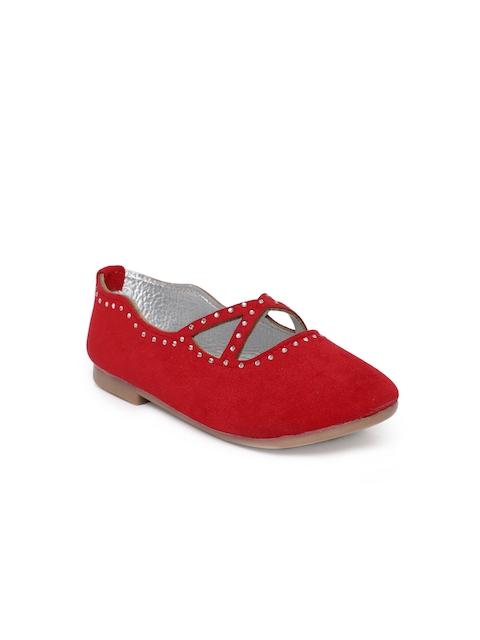 Kittens Girls Red Embellished Ballerinas