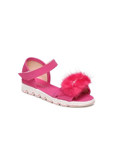 Kittens Girls Pink Fur Comfort Sandals