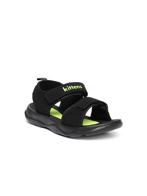 Kittens Boys Black & Green Comfort Sandals