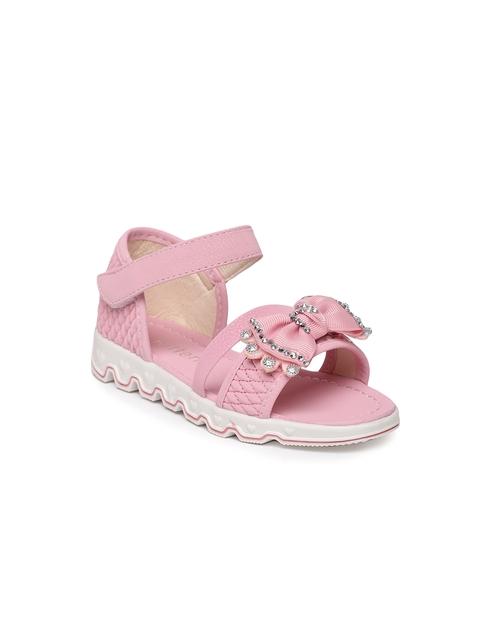 Kittens Girls Pink Embellished Comfort Sandals