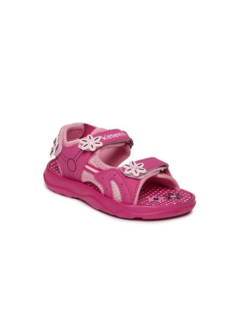 Kittens Girls Pink Floral Comfort Sandals