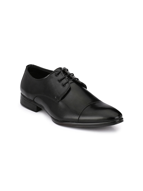 Guava Black Formal Derby Shoes
