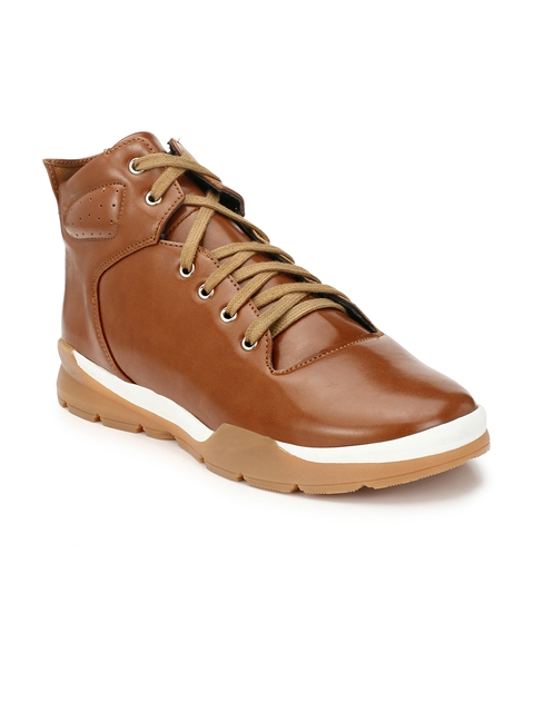 Guava Men Tan Flat Boots