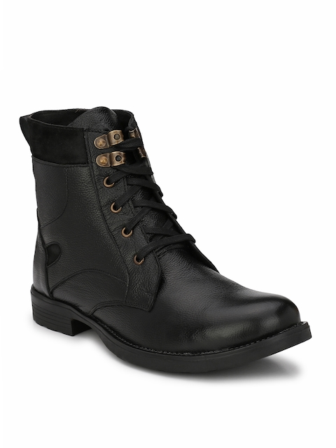 Guava Men Black Flat Boots