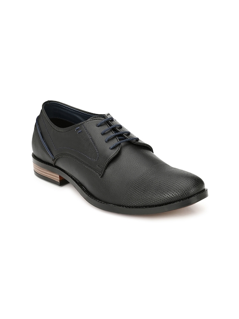 Guava Men Black Brogues Formal Shoes