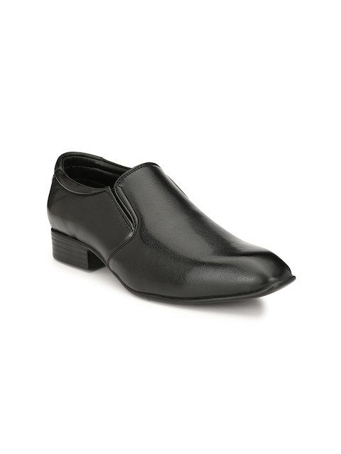 Guava Men Black Slip-On Formal Shoes