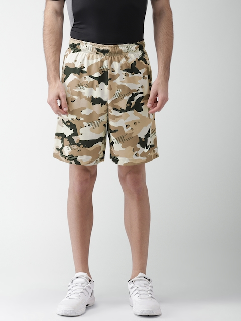 Nike Beige Printed AS M NK DRY SHORT 2L CMO Sports Shorts