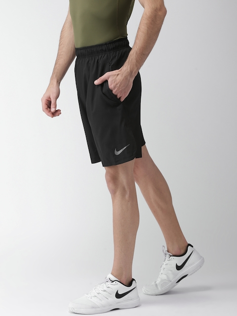 Nike Men Black Solid Standard Fit DRI-FIT Sports Shorts