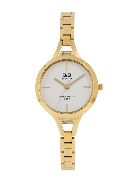 Q&Q Women White Analogue Watch S305J001Y