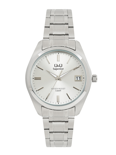Q&Q Men S286J201Y Silver-Toned Analogue Watch